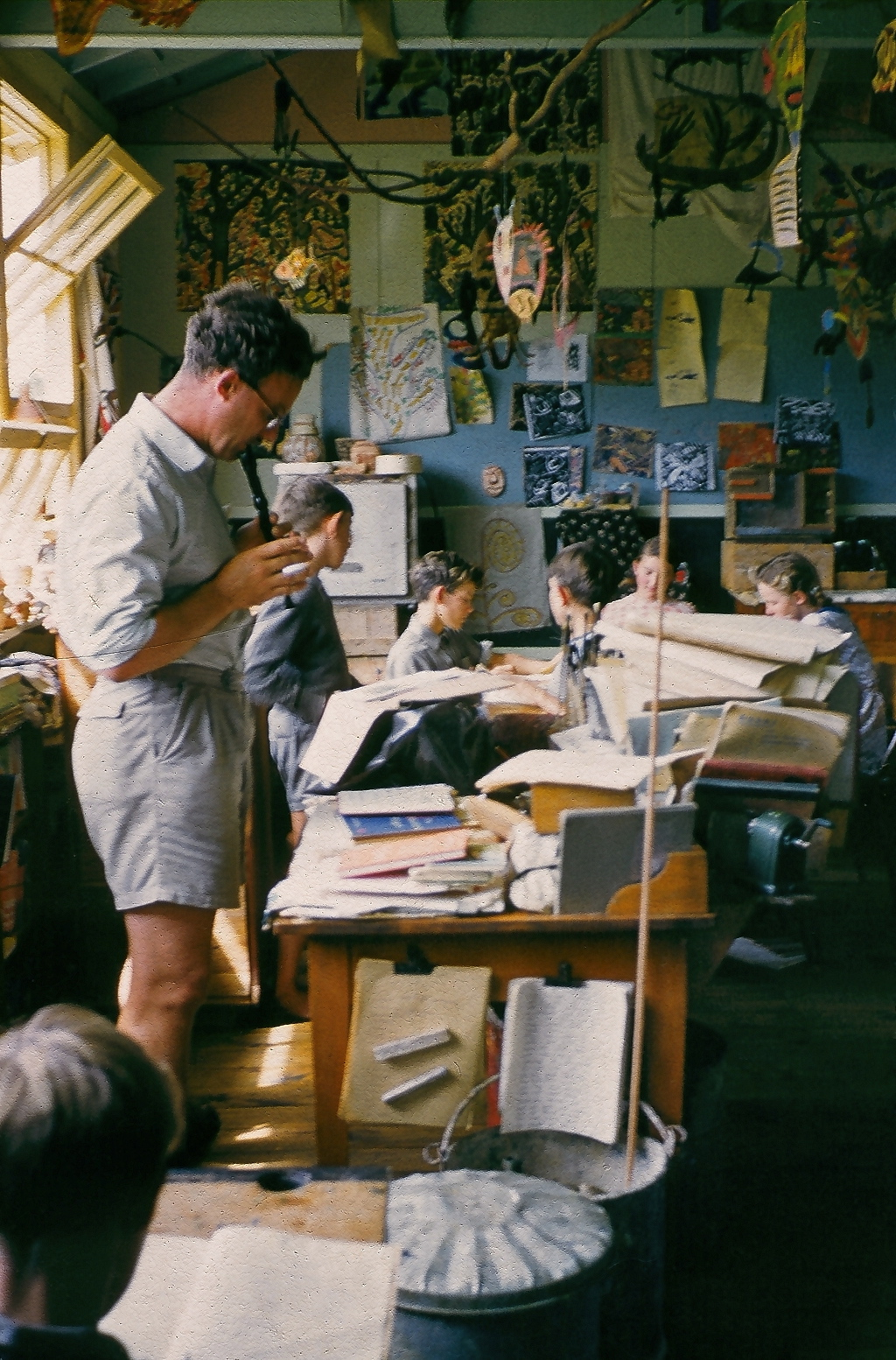 Elwyn Richardson in his classroom