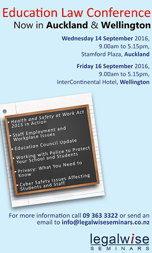 Education Law Conference - now in Auckland and Wellington