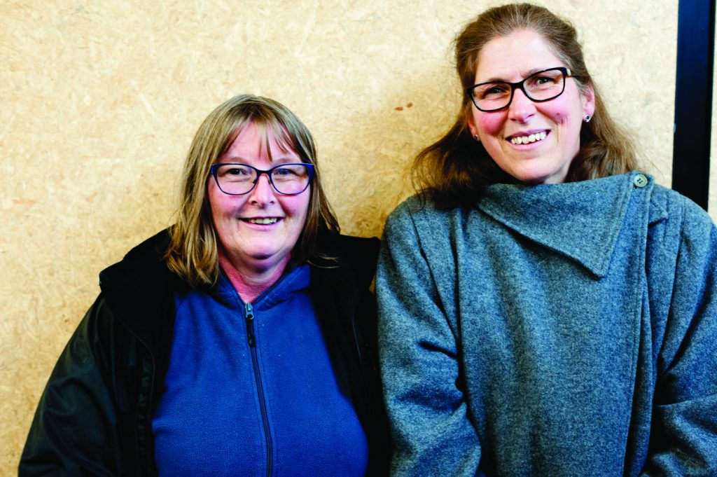 """Heather (r) and Kirsty, support staff: """"We're already bulk-funded and we're the first to lose our hours and our jobs. Underfunding is already hurting schools, especially in the low decile schools, and with bulk-funding it will get even worse"""""""