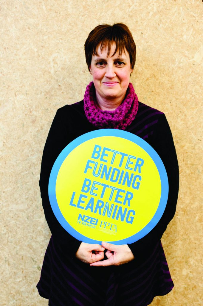 "Julie, kindergarten head teacher: ""Under bulk-funding it's a struggle to provide a quality service. It was too easy for the government to cut the funding for 100% qualified teachers. Kindergartens have been hit the hardest. I've lost four hours of non-contact time but my workload hasn't changed. The government undervalues quality ECE. Waiting lists for special education are huge."""