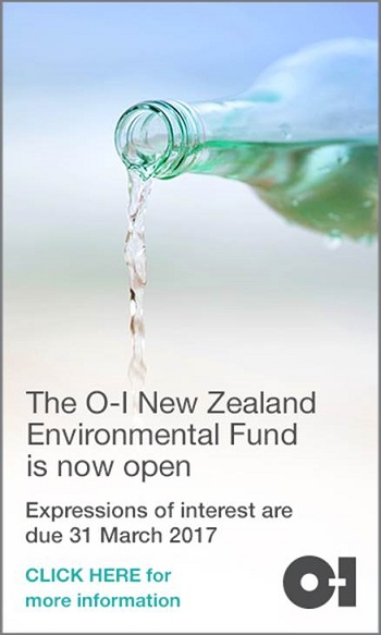 The O-I New Zealand Enrivonmental Fund is now open. Find out more here.